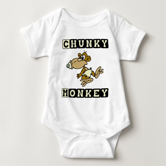 Yellow Chunky Monkey Cute Baby One-Piece Baby Bodysuit