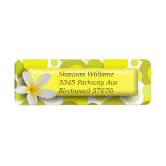 Yellow Circle Return Address Label