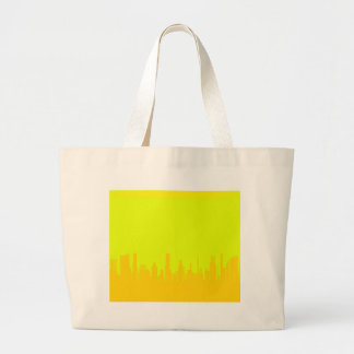 Yellow Cityscape Large Tote Bag