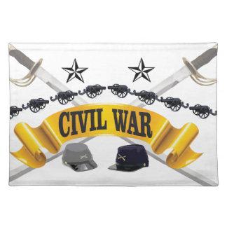 yellow civil war art placemats