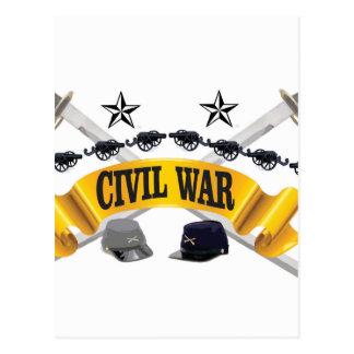 yellow civil war art postcard