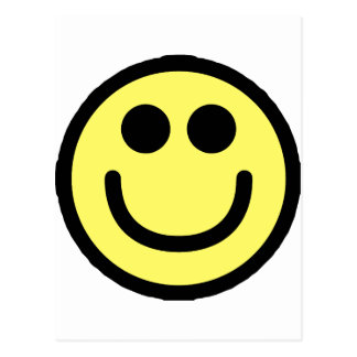 Yellow Classic Smiley Face Postcard
