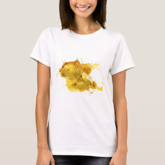 Yellow clock time splash T-Shirt