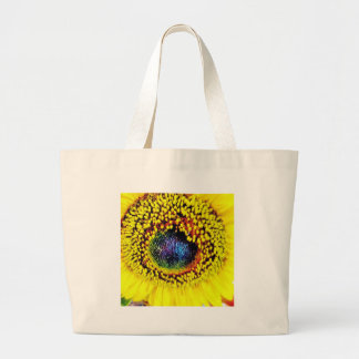 Yellow Closeup Large Tote Bag