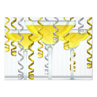 Yellow cocktail and ribbon card