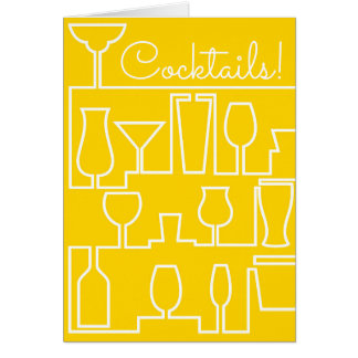Yellow cocktail party card