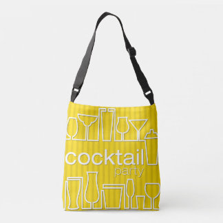 Yellow cocktail party crossbody bag