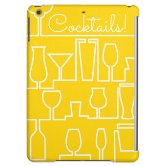 Yellow cocktail party iPad air cases