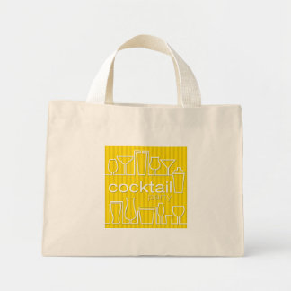 Yellow cocktail party mini tote bag