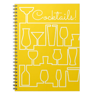 Yellow cocktail party notebooks