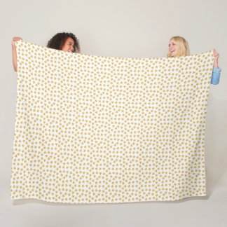 Yellow Color Gradient Stars Seamless Pattern Fleece Blanket