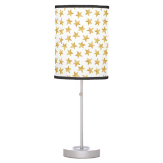 Yellow Color Gradient Stars Seamless Pattern Table Lamp
