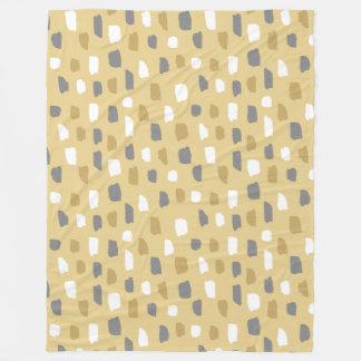 Yellow Color Theme Paint Dabs Fleece Blanket
