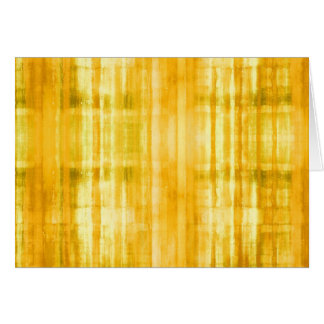 Yellow Colored Abstract Modern Art Note Card