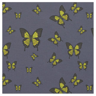 Yellow colored Butterfies, Swallow tail Butterfly Fabric