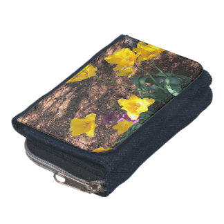 yellow colored tulip type flowers in spring wallet