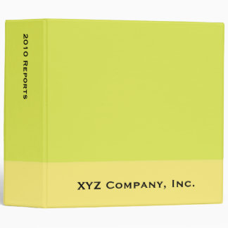 yellow colors vinyl binder