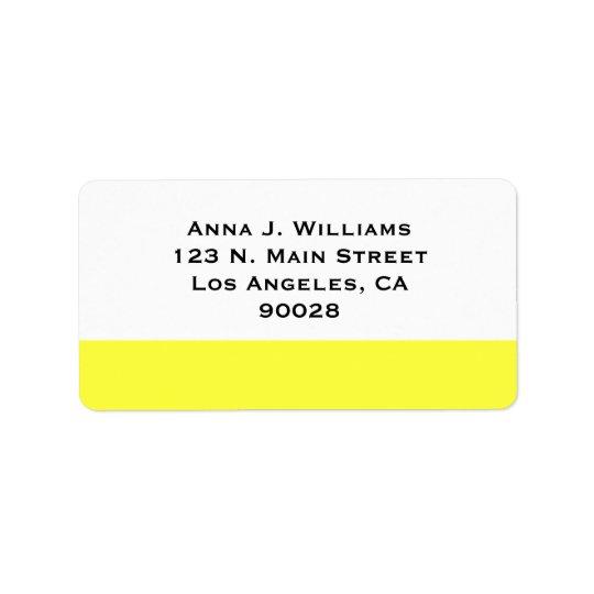yellow colour label