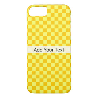 Yellow Combination Checkerboard by ShirleyTaylor Case-Mate iPhone Case