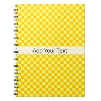 Yellow Combination  Checkerboard by ShirleyTaylor Spiral Notebook