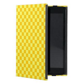 Yellow Combination Classic Checkerboard Case For iPad Mini