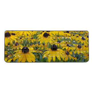 Yellow Coneflower wireless keyboard