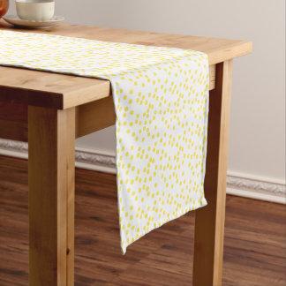 Yellow Confetti / Polkadots Short Table Runner