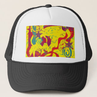 Yellow confusion trucker hat