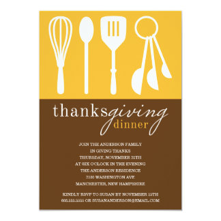 YELLOW COOKING | THANKSGIVING DINNER INVITE