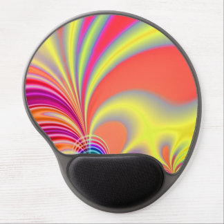 Yellow Coral Fractal Art Gel Mouse Pad