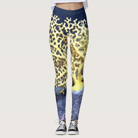 yellow coral leggings