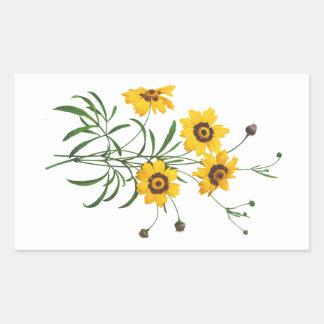 Yellow Coreopsis Elegans by Pierre Joseph Redoute