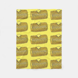 Yellow Corn on the Cob Butter Picnic Food Blanket