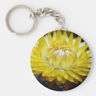 Yellow Cornflower Keychain