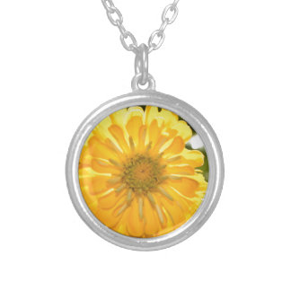 Yellow cosmo silver plated necklace