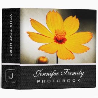 Yellow Cosmos Flower Family Photo Books Vinyl Binders