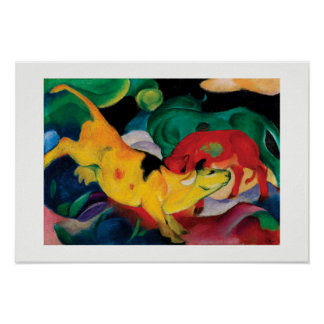 Yellow Cow by Franz Marc Poster
