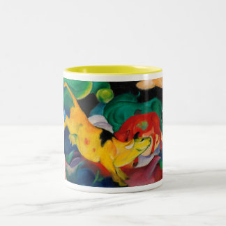 Yellow Cow by Franz Marc Two-Tone Coffee Mug