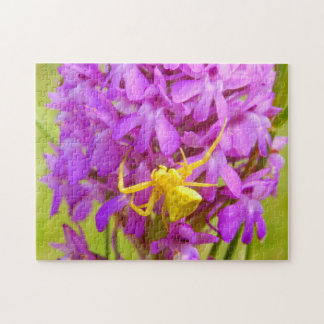 Yellow Crab Spider Photo Puzzle with Gift Box