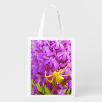 Yellow Crab Spider Reusable Bag