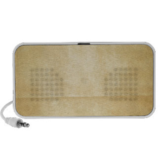 Yellow Creased Paper Background Travelling Speaker