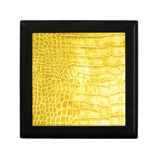 Yellow crocodile leather gift box