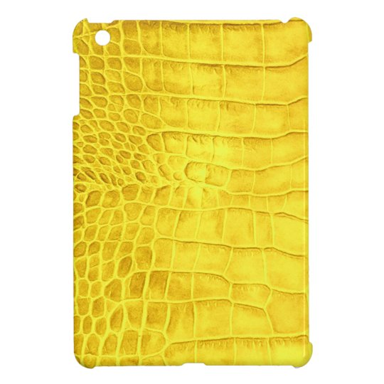 Yellow crocodile leather iPad mini cover