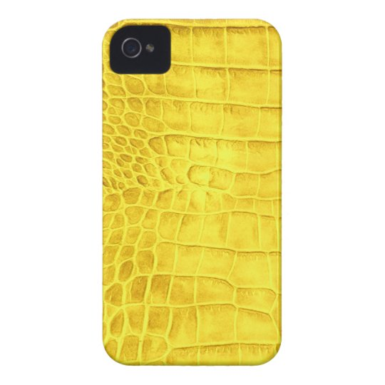Yellow crocodile leather iPhone 4 Case-Mate cases