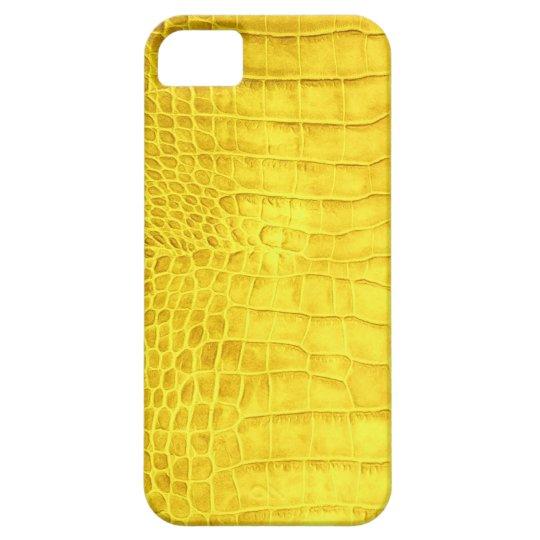 Yellow crocodile leather iPhone 5 covers