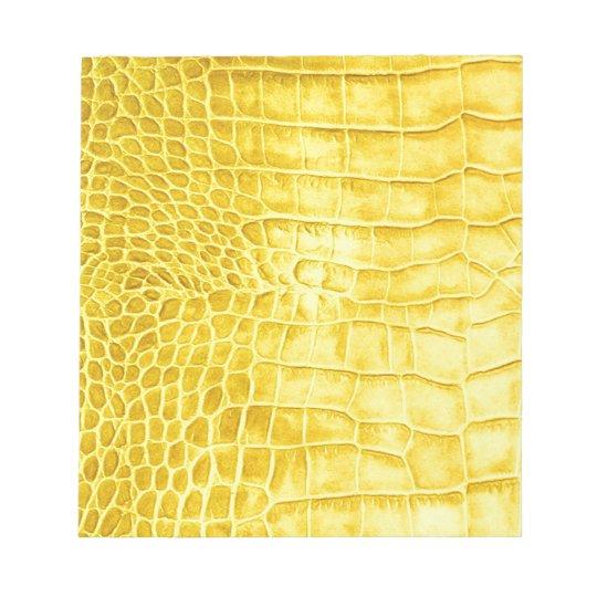 Yellow crocodile leather notepad