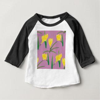 Yellow Crocus Flowers Baby T-Shirt