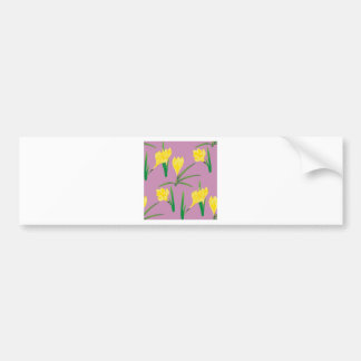 Yellow Crocus Flowers Bumper Sticker