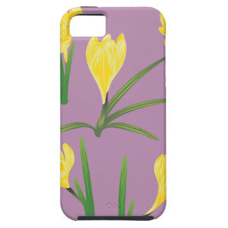 Yellow Crocus Flowers Case For The iPhone 5