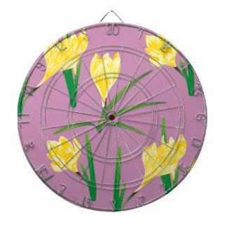 Yellow Crocus Flowers Dartboard